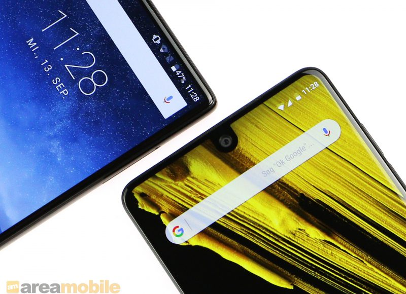 Essential versus Crystal: Zwei Randlos-Smartphones – eines teuer, das andere billig