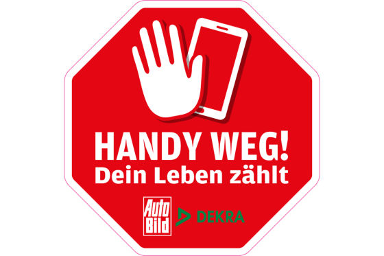 """Aktion von DEKRA und AUTO BILD """"Handy weg! Dein Leben zählt"""""""